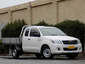 2015 Toyota Hilux GGN15R MY14 SR Xtra Cab 4x2 White 5 Speed Automatic Utility Enfield Port Adelaide Area Preview