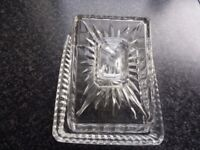 Glass Cheese/ Butter Dish & Lid