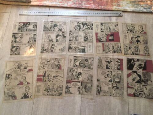 MANDRAKE 1980s ORIGINAL COMIC ART Trials Acetates Colors LOT of 25 items  -3