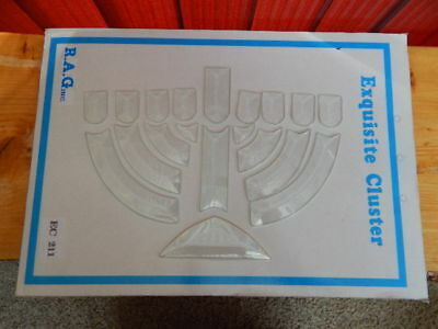 LOT of 2 Exquisite Cluster Bevel Cut Glass Menorah Sacred Candelabrum BRAND NEW](Make Menorah)