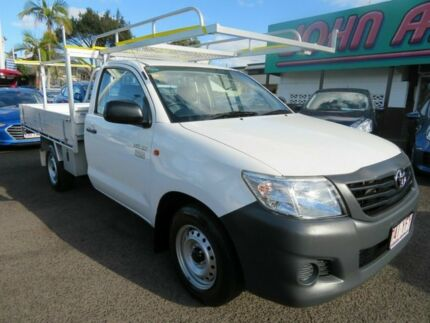 2013 Toyota Hilux TGN16R MY12 Workmate 4x2 White 5 Speed Manual Cab Chassis Mount Gravatt Brisbane South East Preview