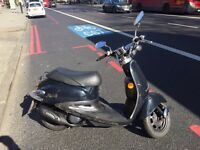 sym fiddle 50 new exhaust, new belt, just serviced with new MOT ride on a car licence or provisional