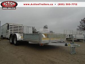 16' ALUMINUM TRAILER WITH ATV RAMPS - LOTS OF STANDARD FEATURES London Ontario image 1