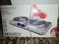 table top double electric hotplate. new and unused in box