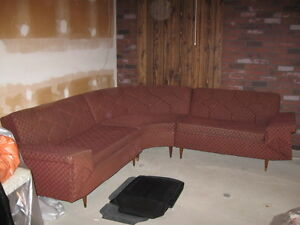RETRO- LATE 50'S -SECTIONAL CHESTERFIELD