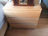 Single bed & chest of drawers