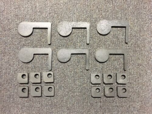 """AR500 Steel Target 22cal Dueling Tree DIY Kit 6pc 2""""x1/4 Pad with Tabs! USA MADE"""