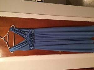 BLUE-GRAY GOWN/ROBE GRISE-BLEUE (great for Prom and weddings)
