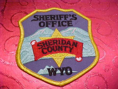 SHERIDAN COUNTY WYOMING POLICE PATCH SHOULDER SIZE UNUSED