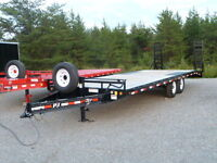 "(NEW) P.J. 24ft.x8'5"" Channel Equipment Trailer (14000 lbs.)"