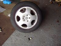 Set of Alloy Wheels and tyres for Vectra B