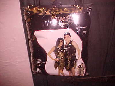 BRAND NEW UNISEX PLUS SIZE JUNGLE CHEETAH COSTUME BY CHARADES  1  IN PACKAGE (Plus Size Cheetah Costume)