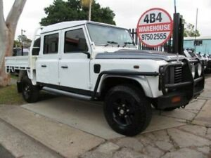 2013 Land Rover Defender MY13 130 (4x4) White 6 Speed Manual Crew Cab Chassis Roselands Canterbury Area Preview
