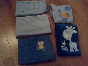 Fleecy Soft Blankets (Boy) -x5- **Great Condition & Quality!**
