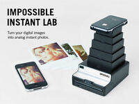 IMPOSSIBLE INSTANT LAB BLACK PHOTO PRINTER FOR IPHONE