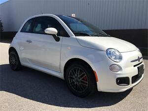 2013 FIAT 500 Sport Rocket Edition. Pearl White & Panoramic Roof