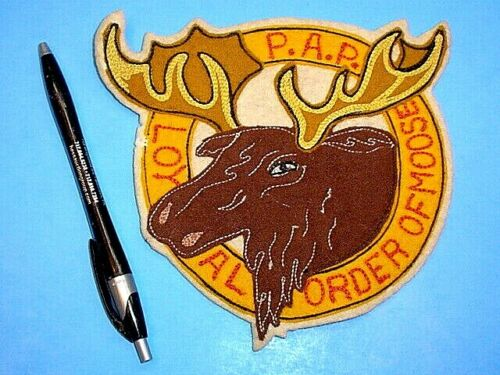 VINTAGE P.A.P. LOYAL ORDER OF MOOSE LARGE JACKET PATCH