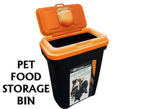 PET DOG CAT ANIMAL 15KG DRY FOOD STORAGE CONTAINER BOX BIN 25KG WILD BIRD SEEDS