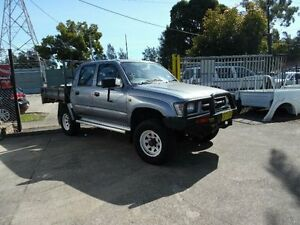 1999 Toyota Hilux RZN169R (4x4) Grey 5 Speed Manual 4x4 Dual Cab Chassis Homebush West Strathfield Area Preview