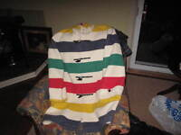 Hudson Bay Coat Multistripe XL Discontinued $650obo