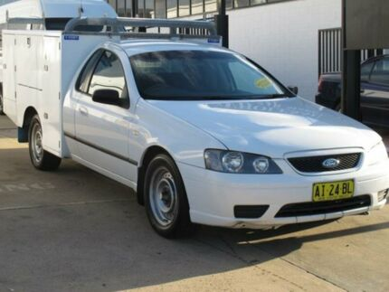 2005 Ford Falcon BA MkII XL White 4 Speed Auto Seq Sportshift Cab Chassis Fyshwick South Canberra Preview