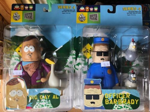 South Park 2004 Mirage Series 4 Big Gay Al and Officer Barbrady Lot