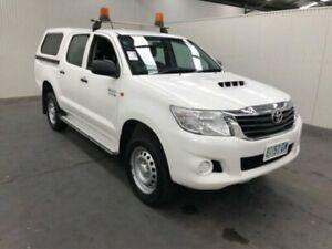 2015 Toyota Hilux KUN26R MY14 SR (4x4) Glacier White 5 Speed Manual Dual Cab Pick-up
