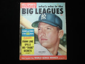 July-September-1959-Dell-Sports-Magazine-Mickey-Mantle-Cover-VG