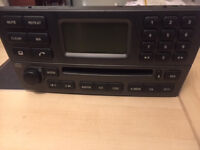 jaguar x type radio / cd player with booklet and code