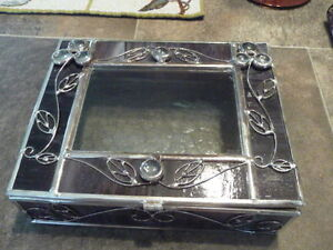 Lovely Large Stained Glass Box