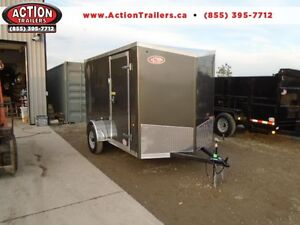 6 X 10 HAULIN ENCLOSED - TONS OF EXTRA OPTIONS, SALE PRICING!
