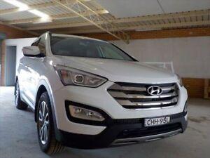 2012 Hyundai Santa Fe DM Elite CRDi (4x4) White 6 Speed Automatic Wagon