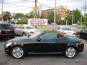 **2002 Lexus SC-430 Coupe** Power Re-tractable Top, Leather.