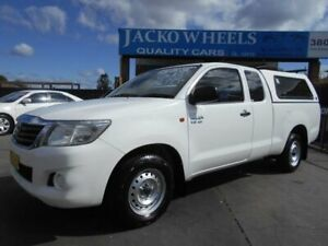 2012 Toyota Hilux GGN15R MY12 SR White 5 Speed Automatic X Cab Pickup Bankstown Bankstown Area Preview