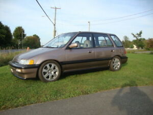 1990 Honda Civic wagon b16a show room