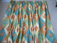 pair good quality lined curtains each 78ins wide x 46 ins long - southbourne