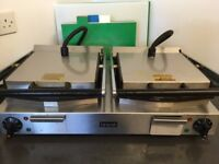 Lincat Lynx 400 Electric Twin Ribbed Grill LRG2 Pannini Grill