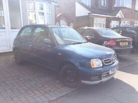 2002 NISSAN MICRA TEMPEST BLUE 1 Lady owner Full history LOW MILES 46k