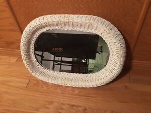 White Wicker Mirror