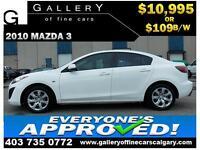 2010 Mazda Mazda3 GS $109 Bi-Weekly APPLY NOW DRIVE NOW