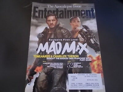Mad Max  Fury Road  Tom Hardy   Entertainment Weekly 2014