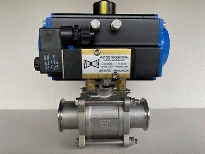 Valtorc 2 Pneumatic Actuator Valve Food Grade S150-ss-ec-tc-vt83sr-9aag-120vac
