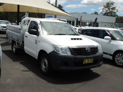 2014 Toyota Hilux KUN16R MY14 WORKMATE TIPPER White Cab Chassis