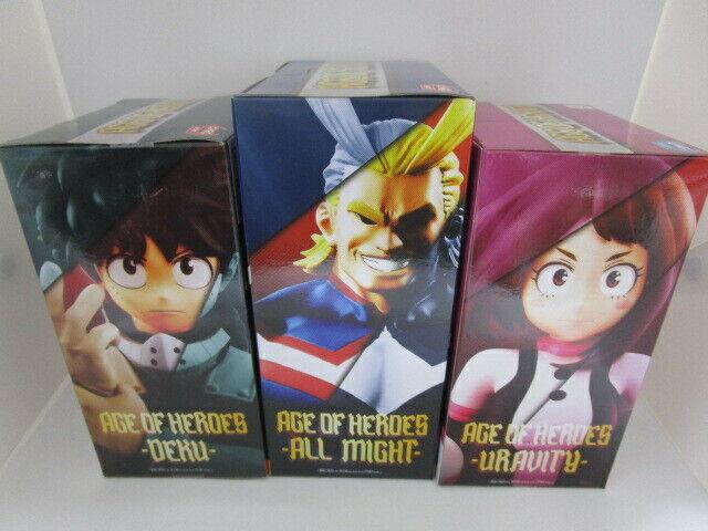 Banpresto My Hero Academia Age of Heores 2 set Izuku Uravity figure Japan F//S