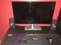 Gaming computer accessories and deskworth £350+