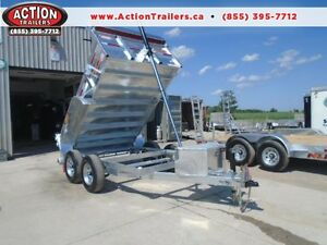 2017 N&N GALVANIZED 6X10 DUMP TRAILER -5 TON HELP ELIMINATE RUST