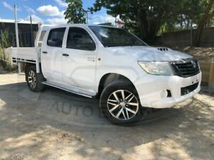 2012 Toyota Hilux KUN26R MY12 SR (4x4) White 5 Speed Manual Dual Cab Pick-up Underwood Logan Area Preview