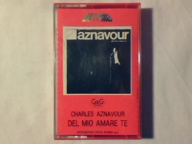 CHARLES AZNAVOUR Del mio amare te mc cassette k7 2a EDIZIONE COME NUOVA LIKE NEW