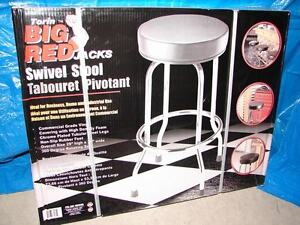 Padded swivel stool