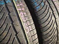 225/45/18 Michelin PilotAlpin 4, M+S Winter, XL x2 A Pair, 5.7mm (456 Barking Rd, Plaistow, E13 8HJ)